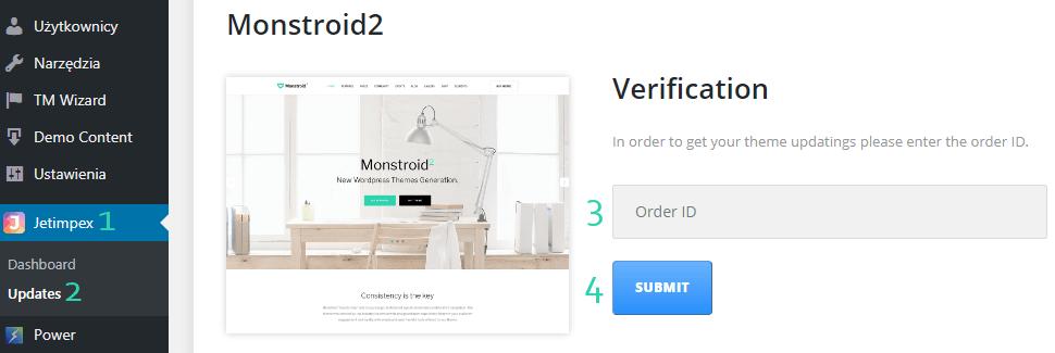 Monstroid 2 Aktywacja aktualizacji