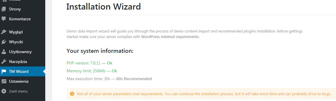 Instalacja Monstroid 2 TM Wizard
