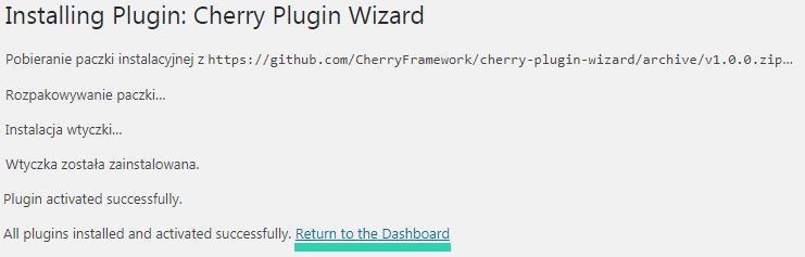 Monstroid 2 Cherry Plugin Wizard