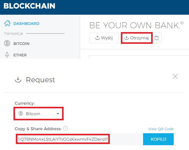 Adres portfela Blockchain