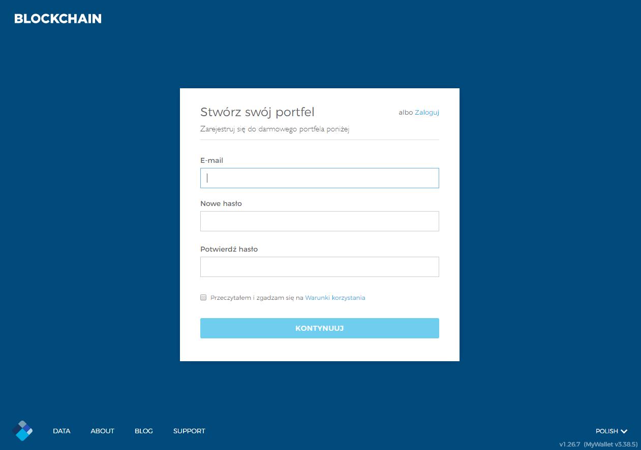 Rejestracja w Blockchain