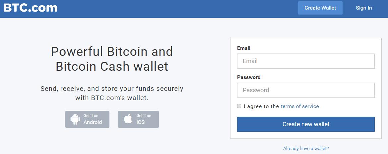 Rejestracja BTC.com