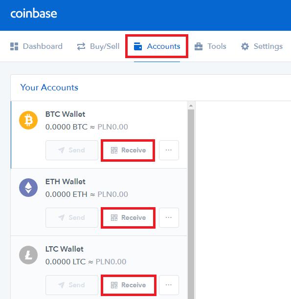 Adres portfela CoinBase