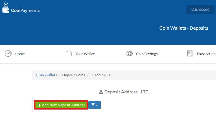 Adres portfela CoinPayments.net 2