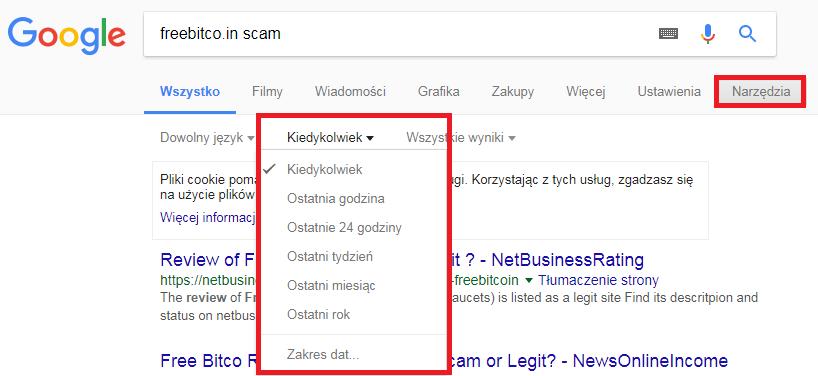 Google FreeBitco.in data