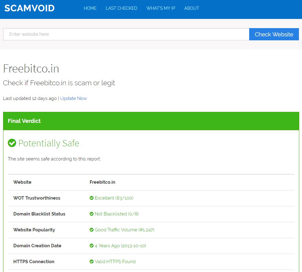 ScamVoid FreeBitco.in