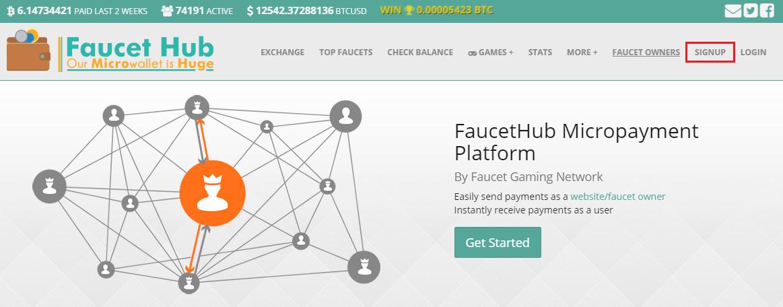 Rejestracja FaucetHub.io