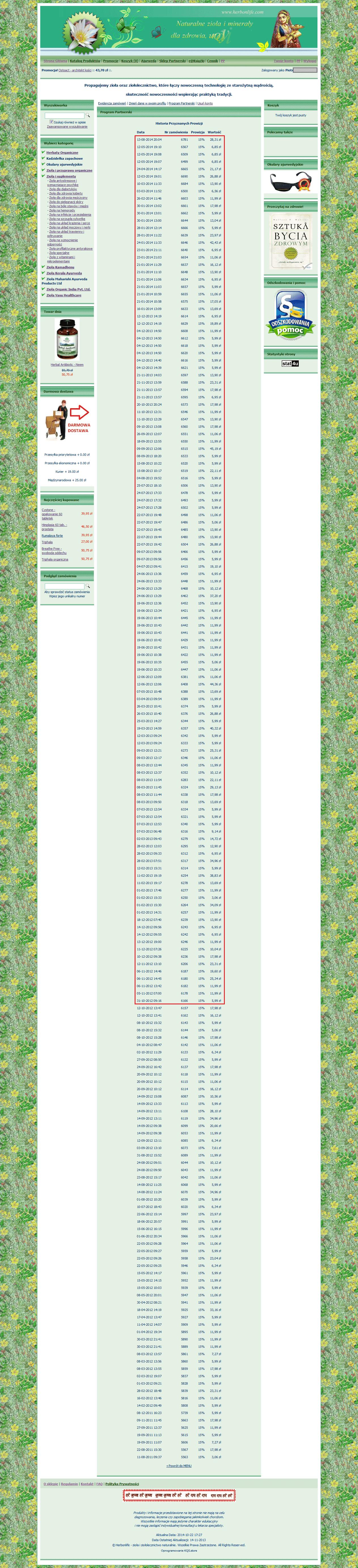 HerbonLife.com Prowizje