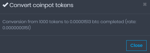 konwersja coinpot